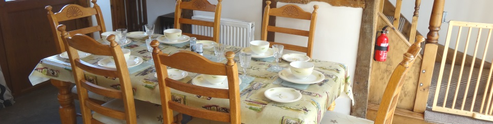 Dining Room in self catering cottages Herefordshire